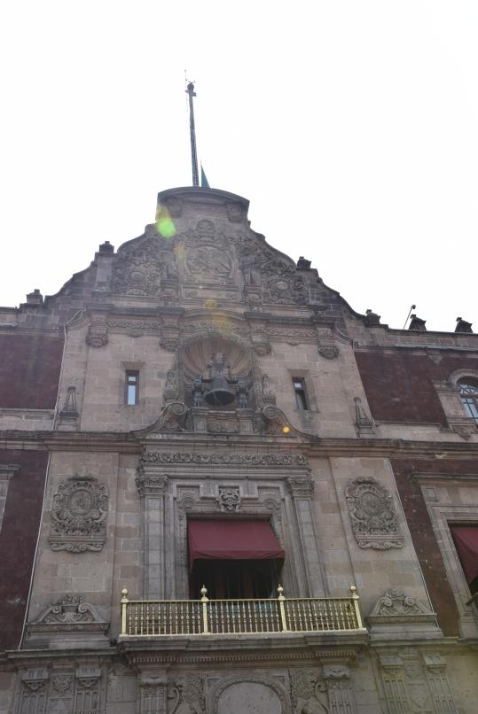 Balcón principal del Palacio de Gobierno